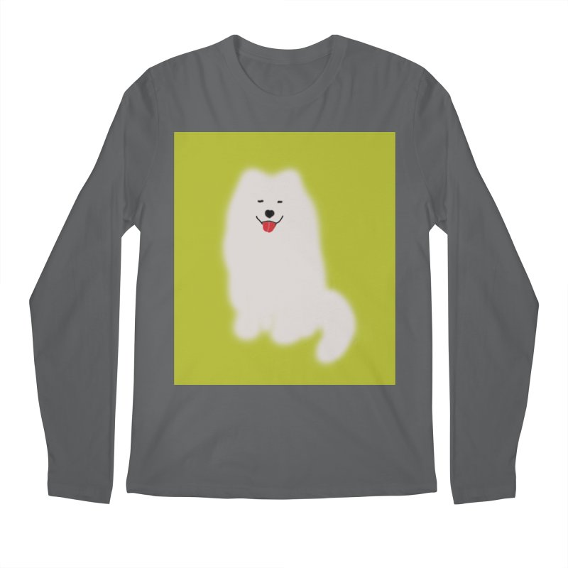 Fluffy Samoyed Cloud Men's Longsleeve T-Shirt by tiikae's Shop