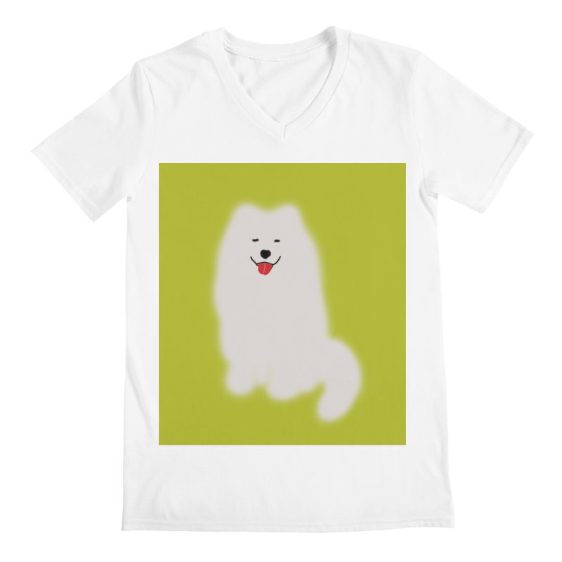 Fluffy Samoyed Cloud Men's V-Neck by tiikae's Shop