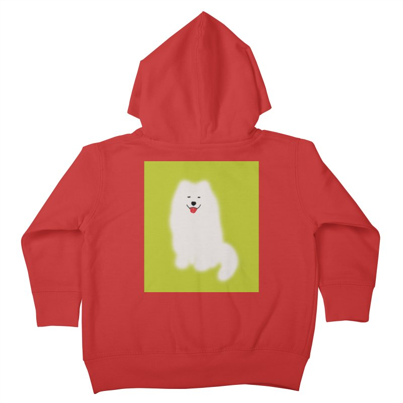Fluffy Samoyed Cloud Kids Toddler Zip-Up Hoody by tiikae's Shop