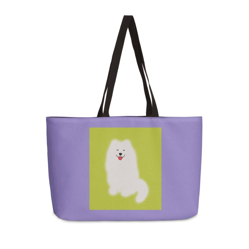 Fluffy Samoyed Cloud Accessories Bag by tiikae's Shop