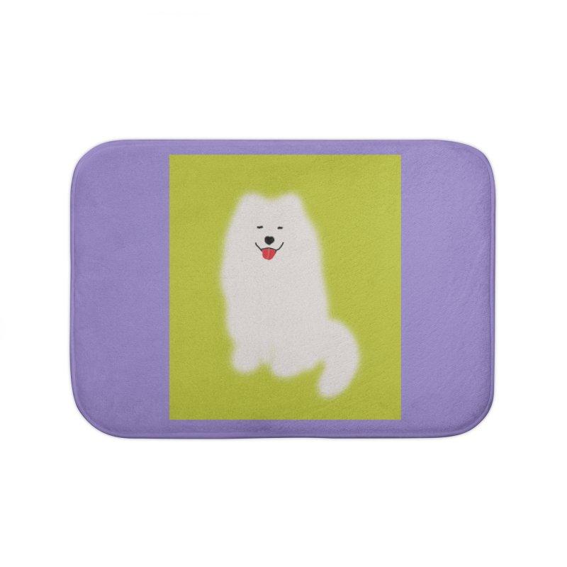 Fluffy Samoyed Cloud Home Bath Mat by tiikae's Shop