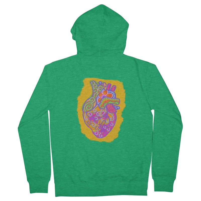 Anatomically incorrect heart Men's Zip-Up Hoody by tiikae's Shop