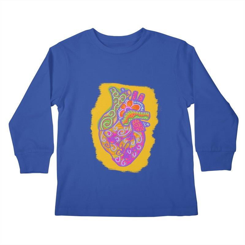 Anatomically incorrect heart Kids Longsleeve T-Shirt by tiikae's Shop