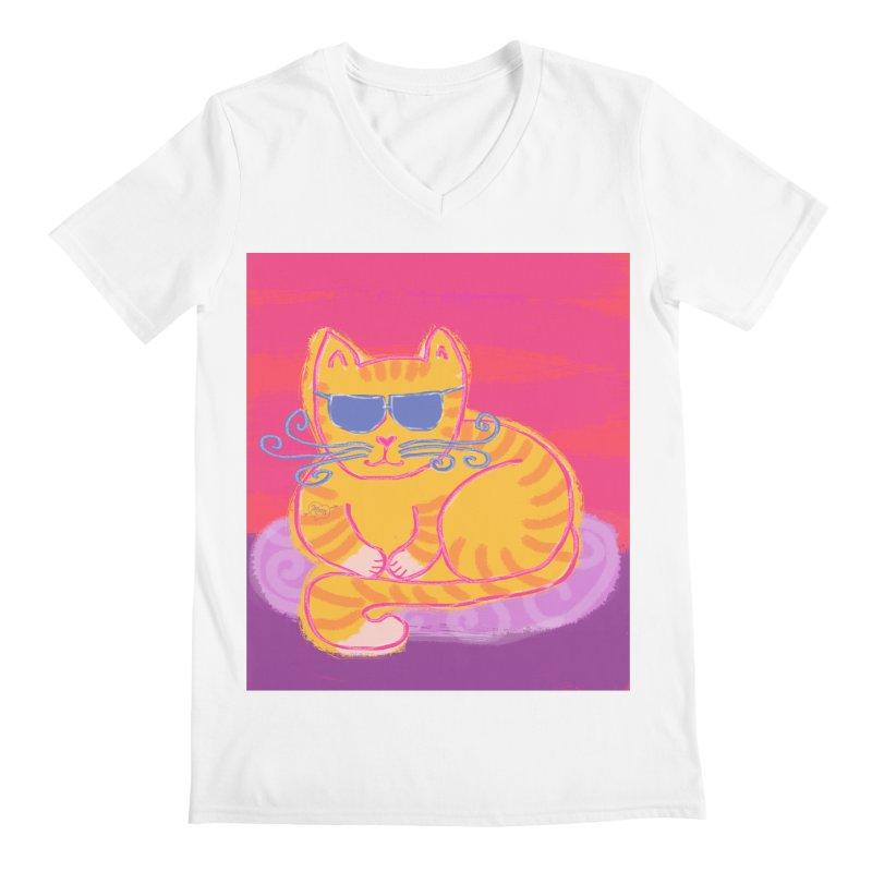 Tough cat loaf Men's V-Neck by tiikae's Shop