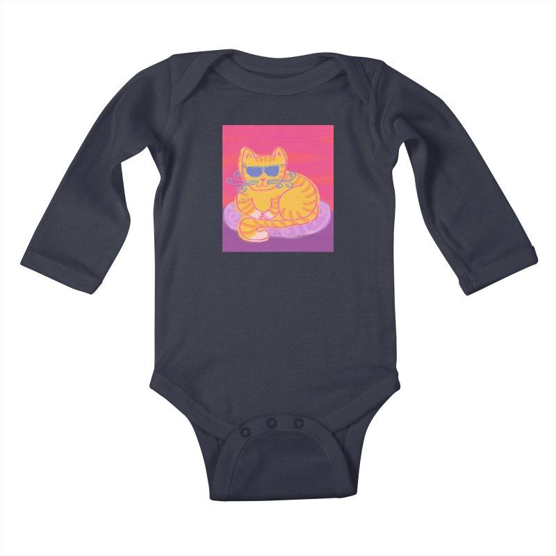 Tough cat loaf Kids Baby Longsleeve Bodysuit by tiikae's Shop