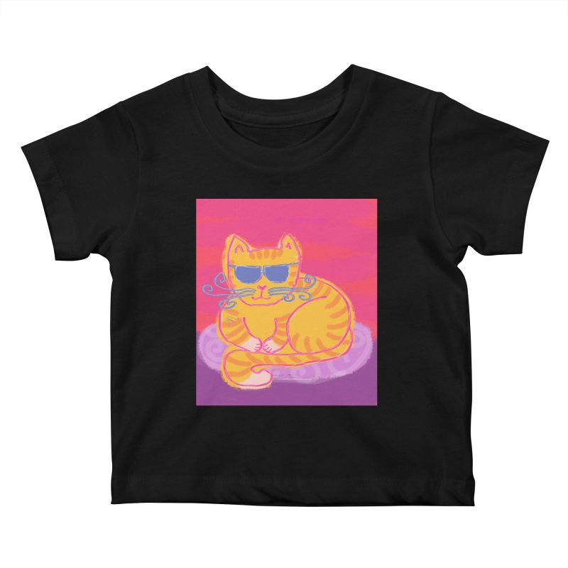 Tough cat loaf Kids Baby T-Shirt by tiikae's Shop