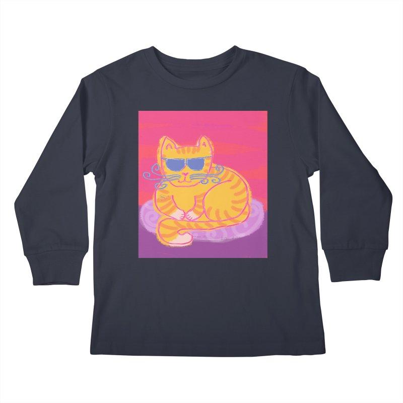 Tough cat loaf Kids Longsleeve T-Shirt by tiikae's Shop
