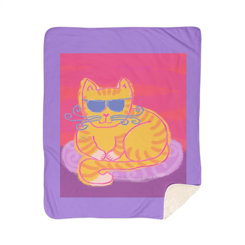 Tough cat loaf Home Blanket by tiikae's Shop