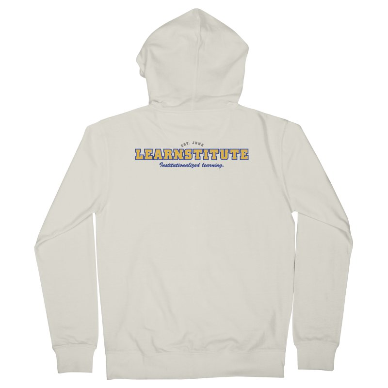 Learnstitute Men's French Terry Zip-Up Hoody by Tiki Bar TV's Shop