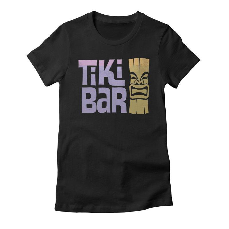 Tiki Bar TV Logo Women's Fitted T-Shirt by Tiki Bar TV's Shop