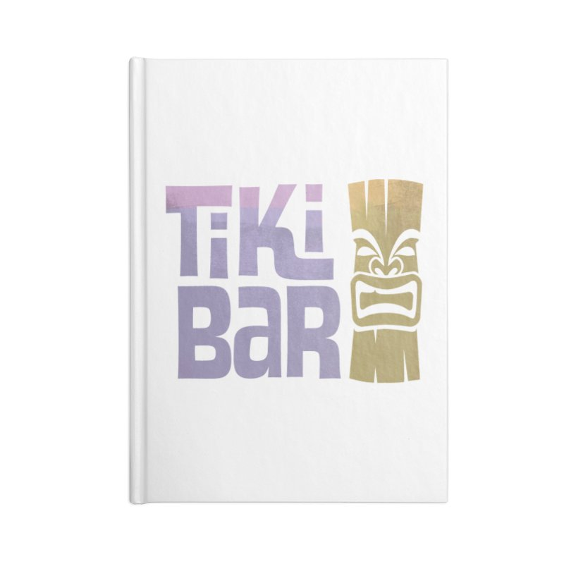 Tiki Bar TV Logo Accessories Lined Journal Notebook by Tiki Bar TV's Shop