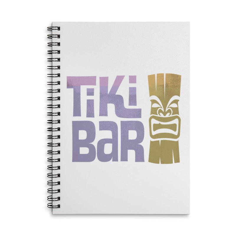 Tiki Bar TV Logo Accessories Lined Spiral Notebook by Tiki Bar TV's Shop