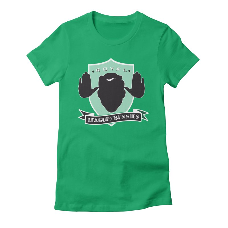 Royal League of Bunnies Women's Fitted T-Shirt by Tiki Bar TV's Shop