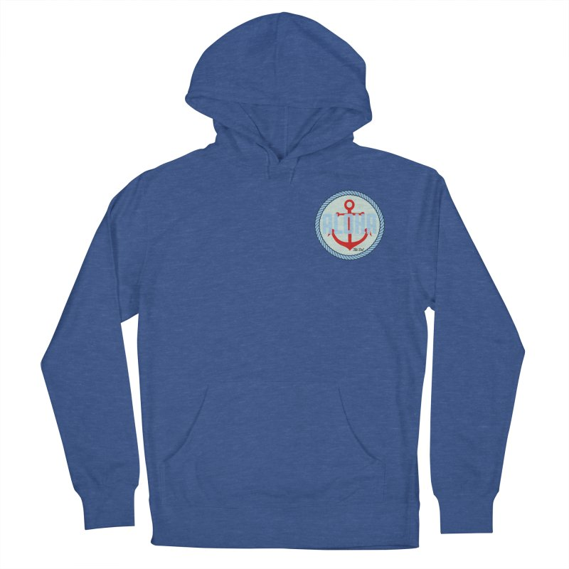 HELLO/GOODBYE Men's French Terry Pullover Hoody by Tiki Del