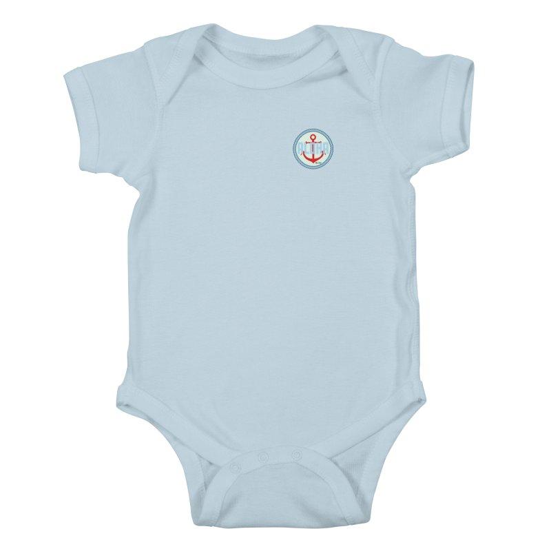 HELLO/GOODBYE Kids Baby Bodysuit by Tiki Del