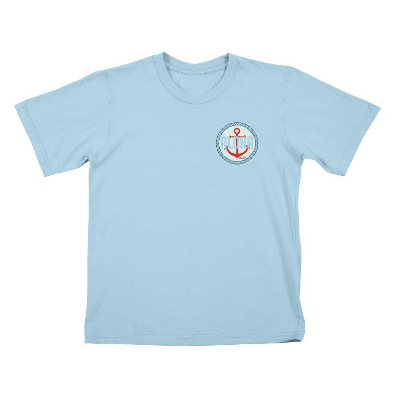 HELLO/GOODBYE Kids T-Shirt by Tiki Del