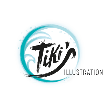 Tiki's Illustration Shop Logo