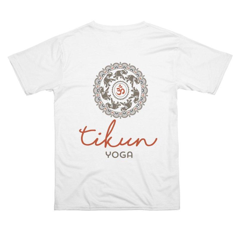 Tikun Yoga Products (on White & Gray) Men's Cut & Sew by tikunyoga's Artist Shop