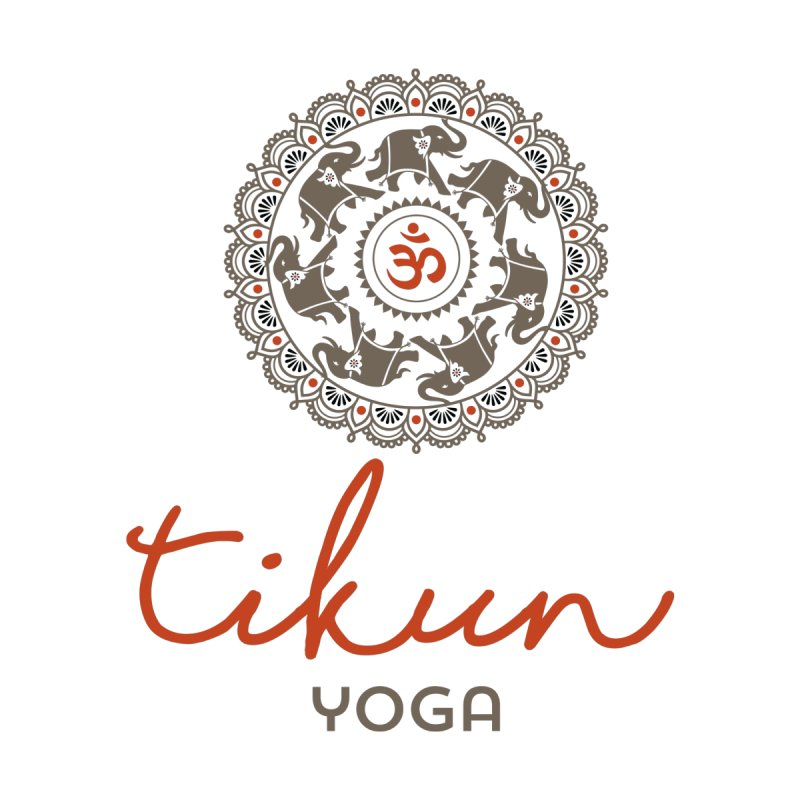 Tikun Yoga Products (on White & Gray) Women's T-Shirt by tikunyoga's Artist Shop