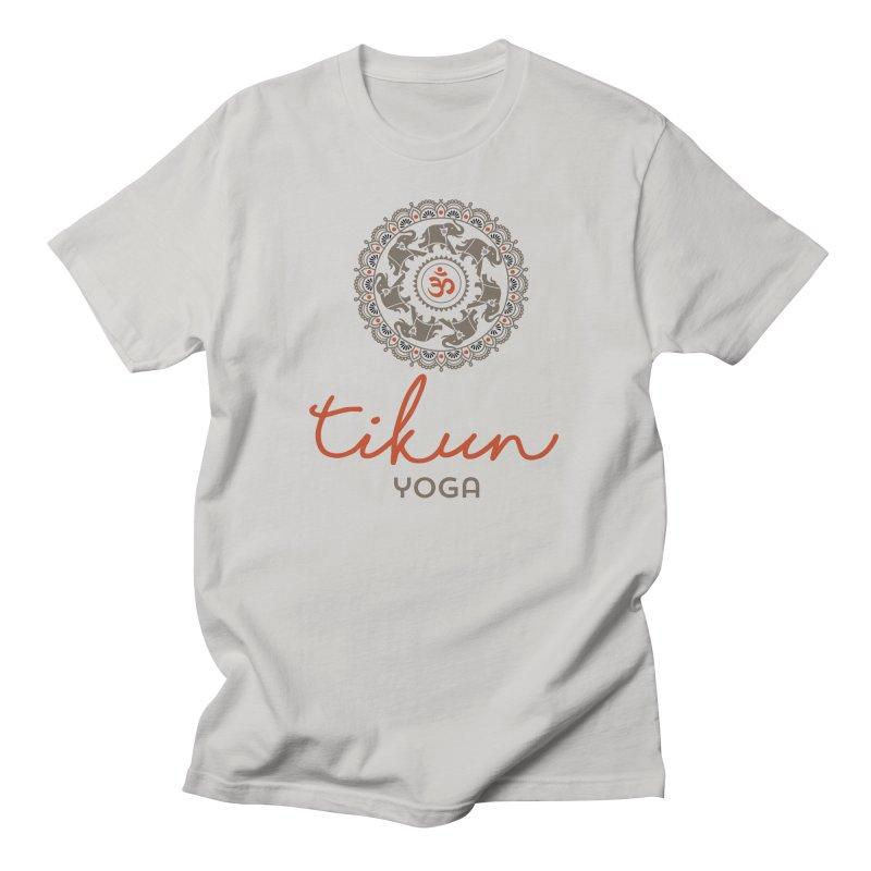 Tikun Yoga Products (on White & Gray) Men's T-Shirt by tikunyoga's Artist Shop