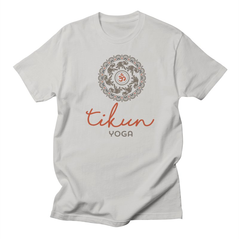 Tikun Yoga Products (on White & Gray) Men's T-Shirt by tikunyoga's Artist Shop