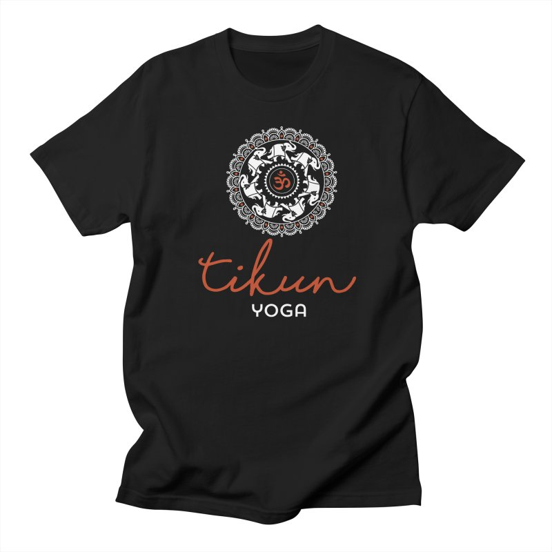 Tikun Yoga Products (on black) Men's T-Shirt by tikunyoga's Artist Shop