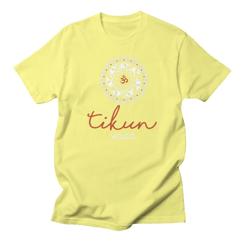 Tikun Yoga Products (on black) Women's T-Shirt by tikunyoga's Artist Shop