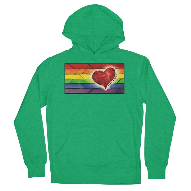 Love is Love Men's Pullover Hoody by Tilted Windmill's Artist Shop