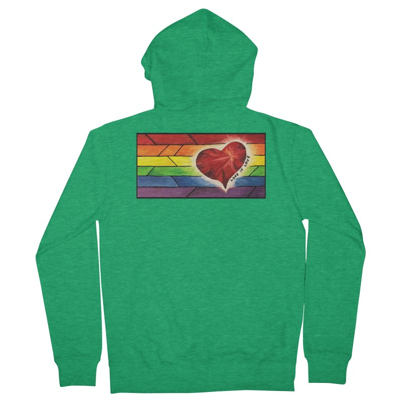 Love is Love Men's Zip-Up Hoody by Tilted Windmill's Artist Shop