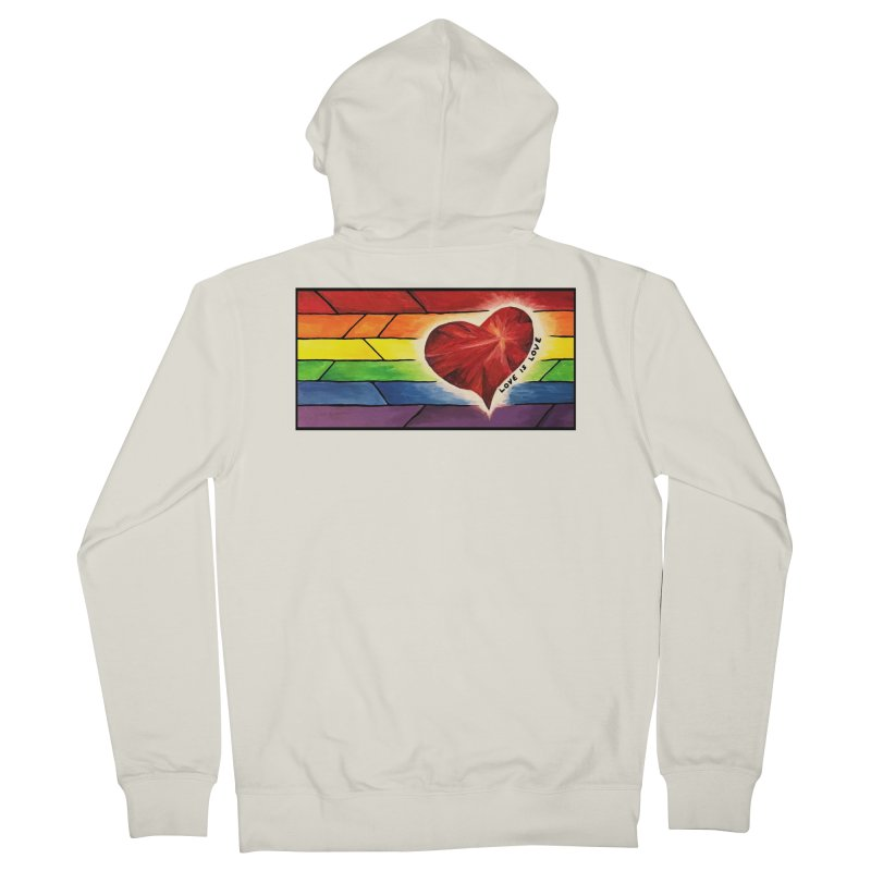 Love is Love Men's French Terry Zip-Up Hoody by Tilted Windmill's Artist Shop