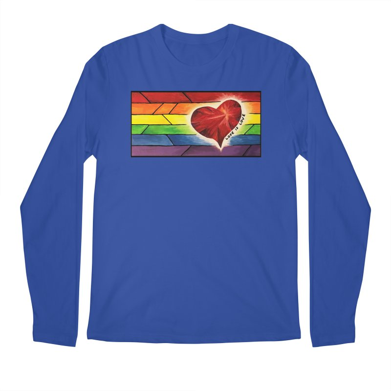 Love is Love Men's Regular Longsleeve T-Shirt by Tilted Windmill's Artist Shop