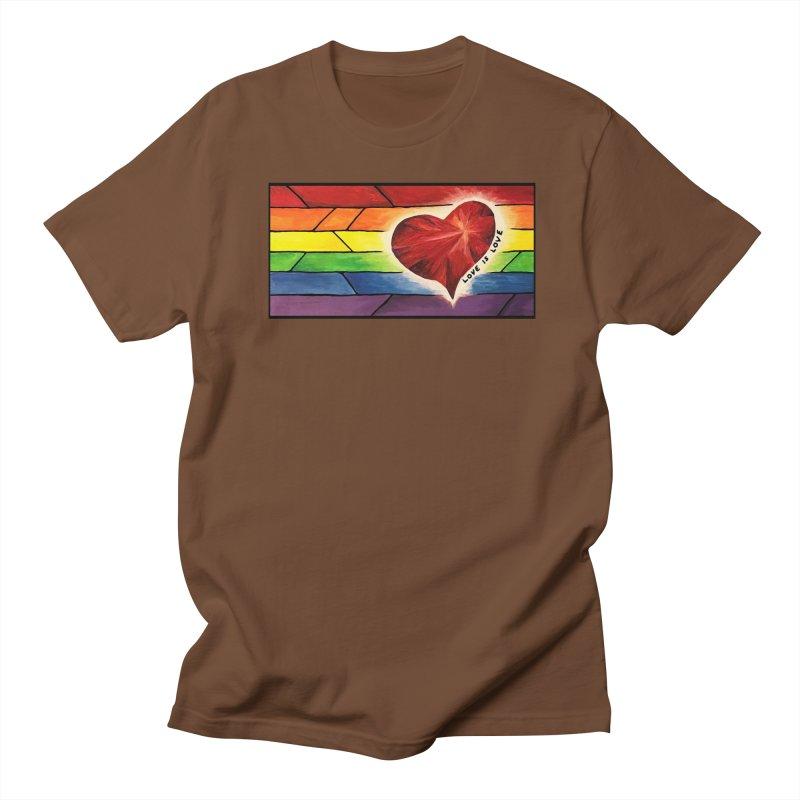 Love is Love Men's Regular T-Shirt by Tilted Windmill's Artist Shop