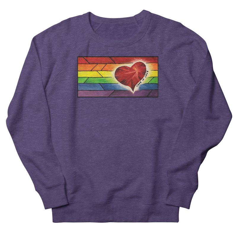 Love is Love Men's Sweatshirt by Tilted Windmill's Artist Shop
