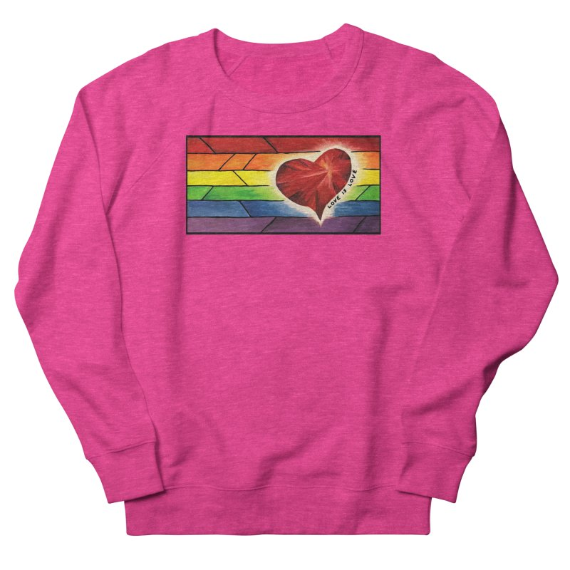 Love is Love Men's French Terry Sweatshirt by Tilted Windmill's Artist Shop
