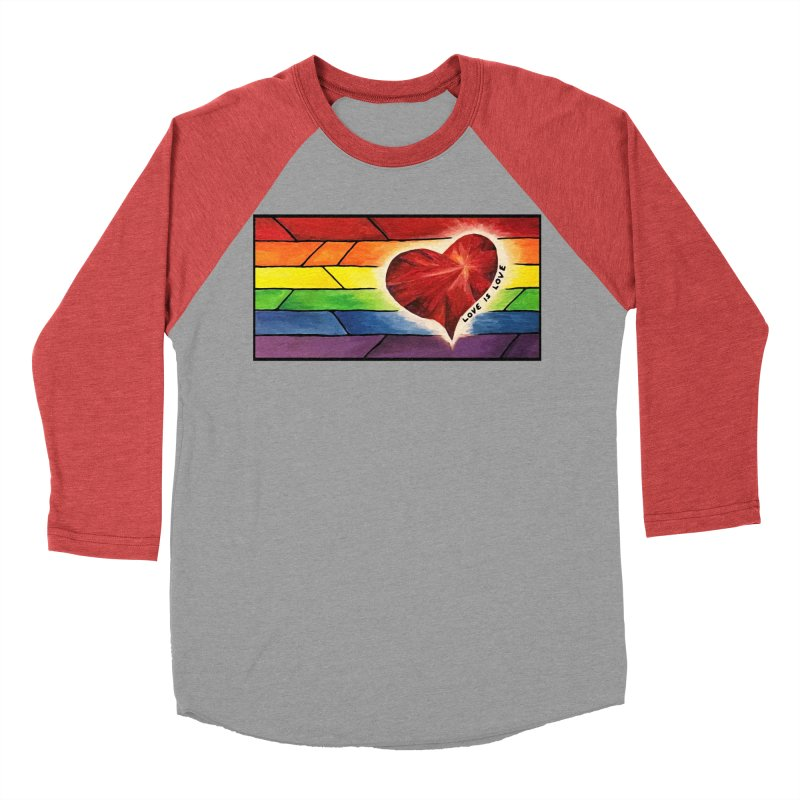 Love is Love Women's Baseball Triblend T-Shirt by Tilted Windmill's Artist Shop