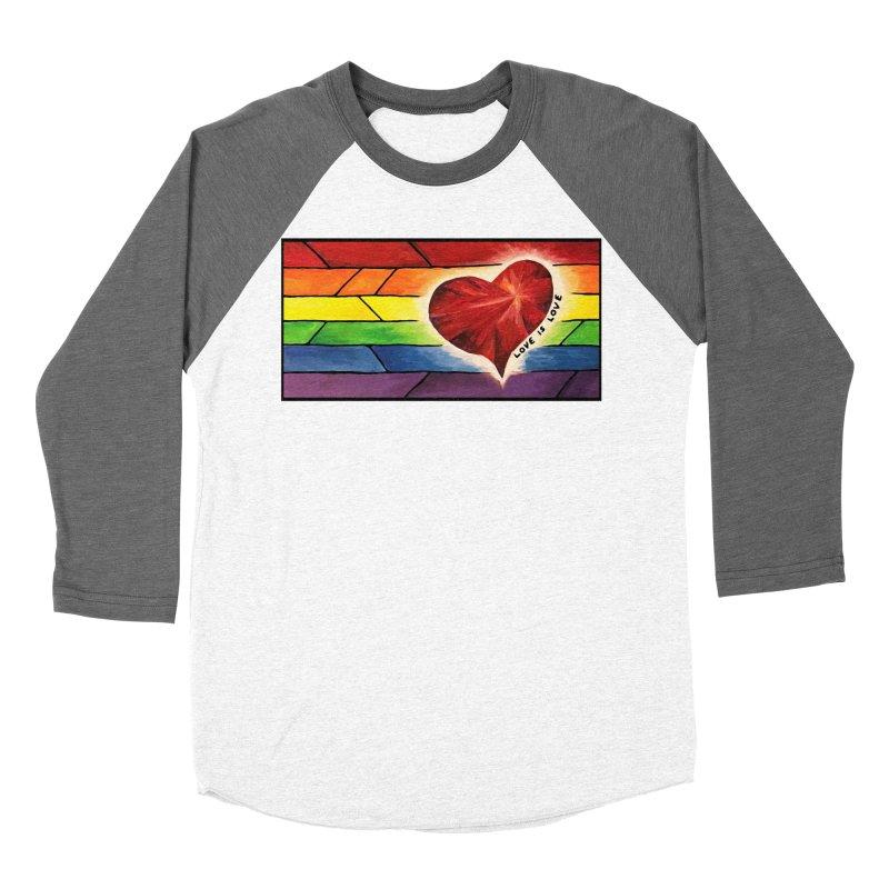 Love is Love Men's Baseball Triblend T-Shirt by Tilted Windmill's Artist Shop