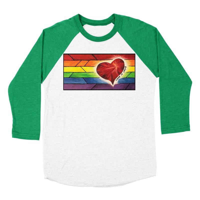 Love is Love Men's Baseball Triblend Longsleeve T-Shirt by Tilted Windmill's Artist Shop