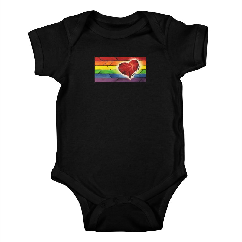 Love is Love Kids Baby Bodysuit by Tilted Windmill's Artist Shop