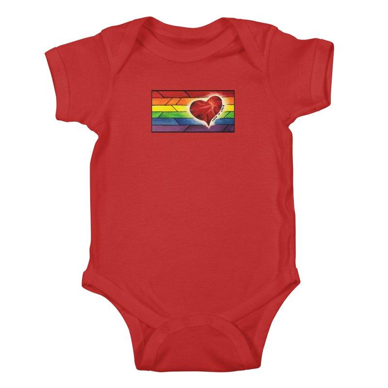 Love is Love Kids Baby Bodysuit by Tilted Windmill's Artist Shop