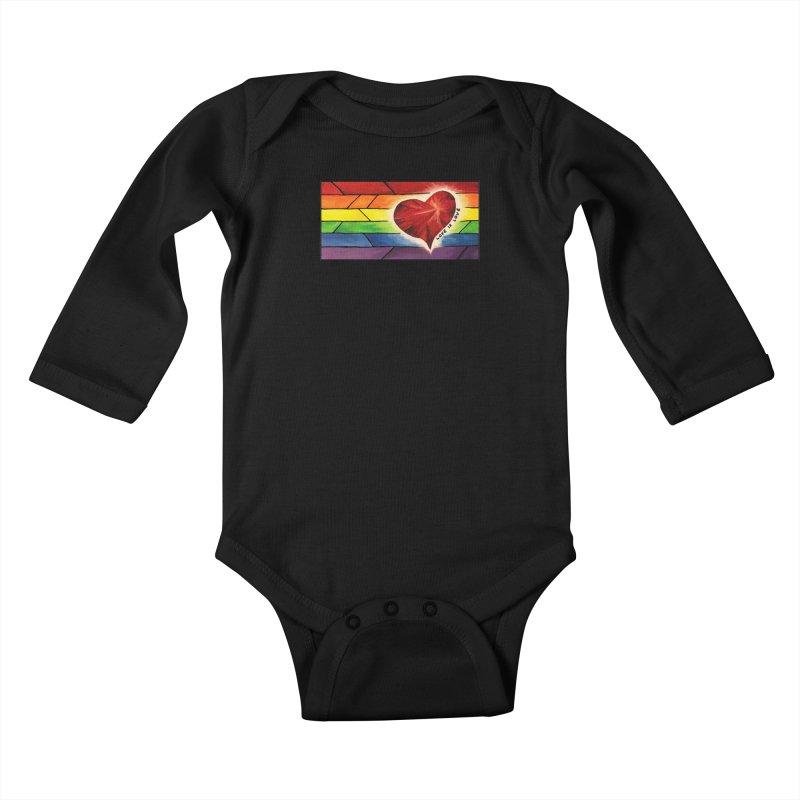 Love is Love Kids Baby Longsleeve Bodysuit by Tilted Windmill's Artist Shop