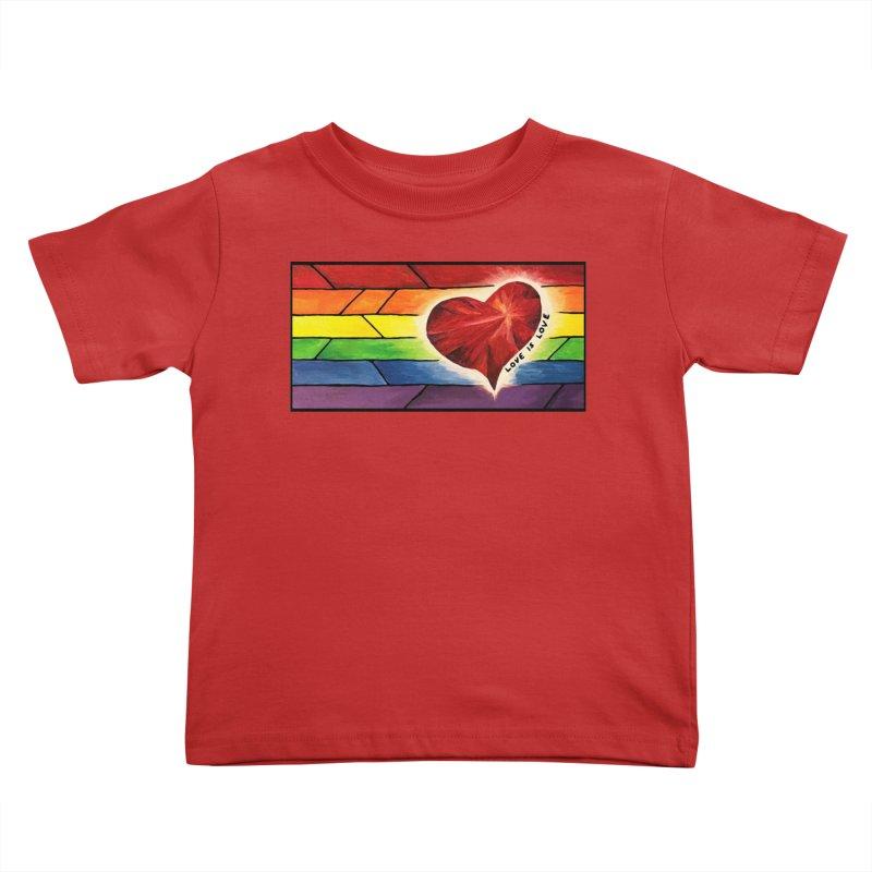 Love is Love Kids Toddler T-Shirt by Tilted Windmill's Artist Shop