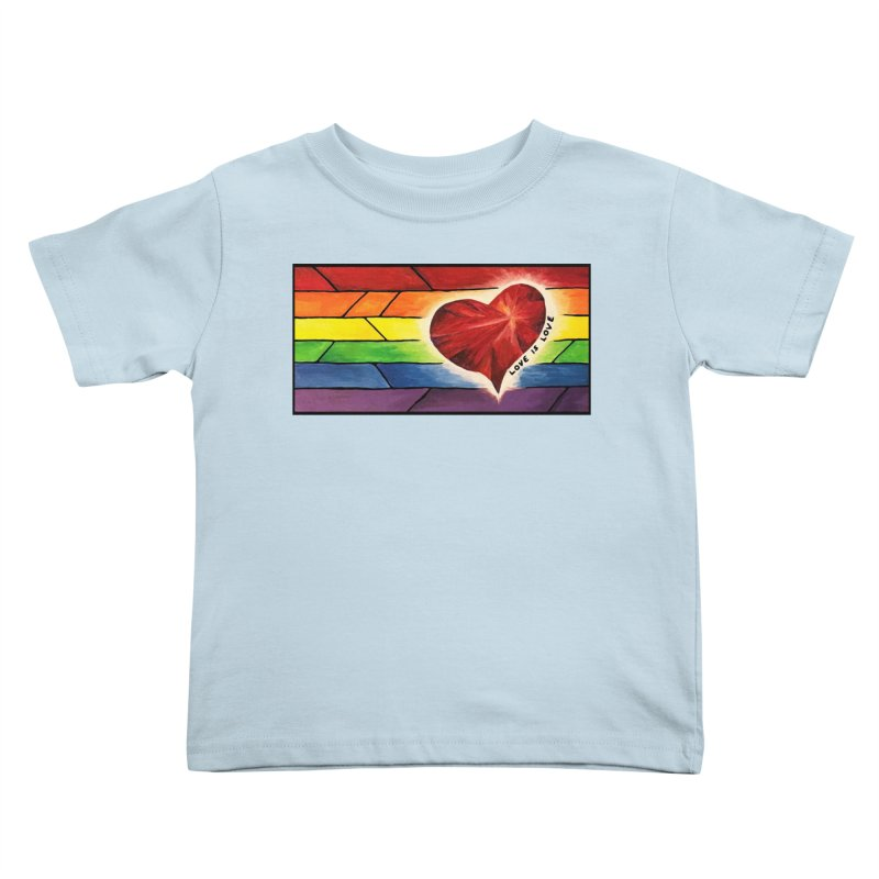 Love is Love Kids Toddler T-Shirt by Tilted Windmill's Artist Shop