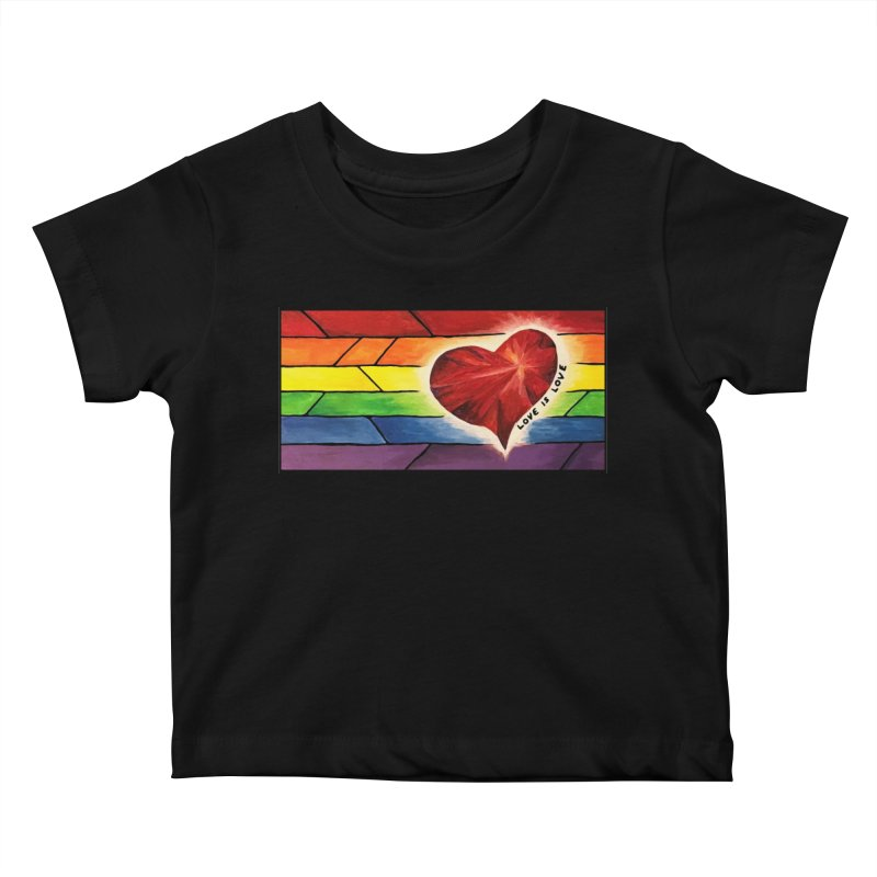 Love is Love Kids Baby T-Shirt by Tilted Windmill's Artist Shop