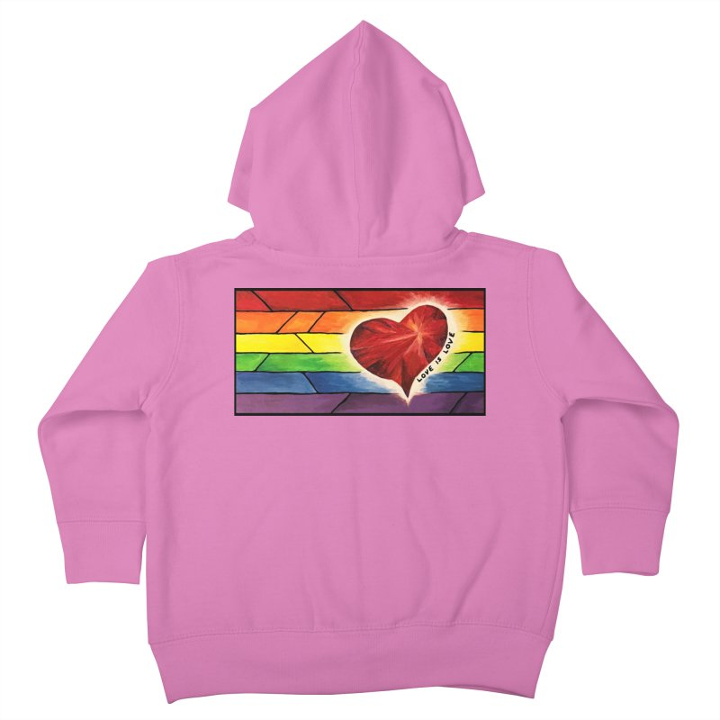 Love is Love Kids Toddler Zip-Up Hoody by Tilted Windmill's Artist Shop