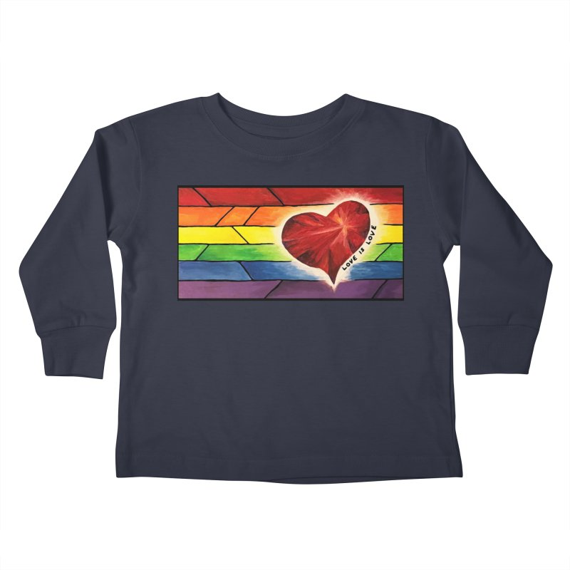 Love is Love Kids Toddler Longsleeve T-Shirt by Tilted Windmill's Artist Shop