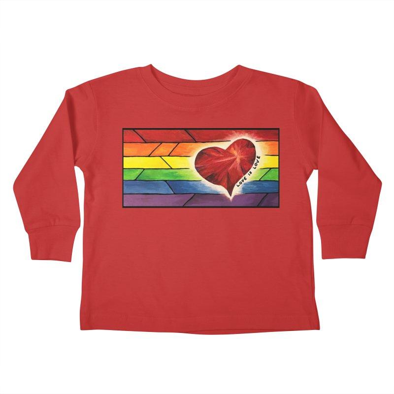 Love is Love Kids Toddler Longsleeve T-Shirt by Tilted Windmill's Artist Shop