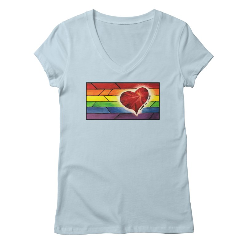 Love is Love Women's V-Neck by Tilted Windmill's Artist Shop