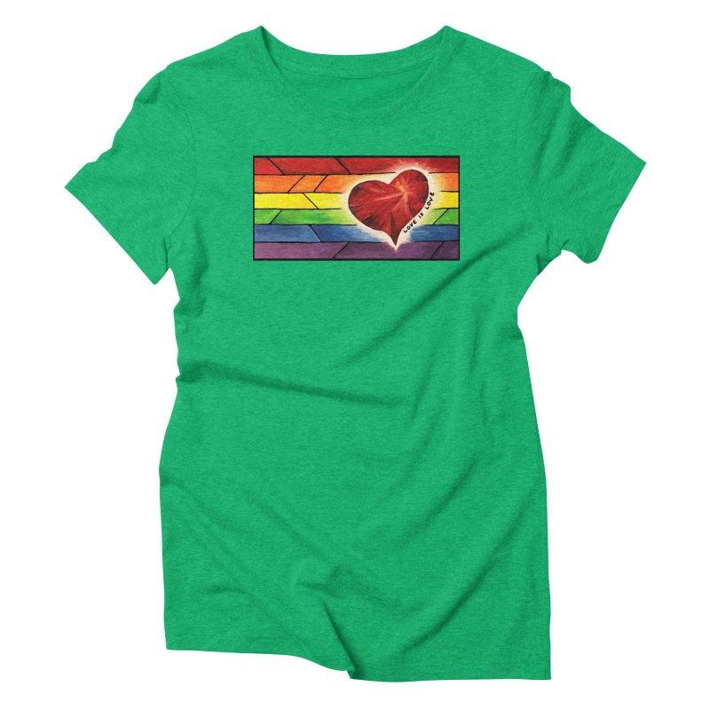 Love is Love Women's Triblend T-Shirt by Tilted Windmill's Artist Shop