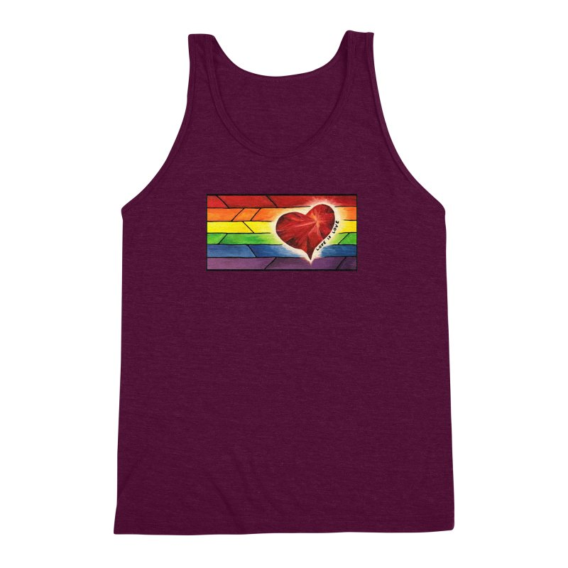 Love is Love Men's Triblend Tank by Tilted Windmill's Artist Shop