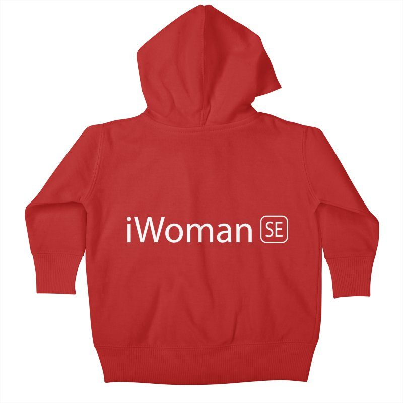 iWoman SE Kids Baby Zip-Up Hoody by Tilted Windmill's Artist Shop